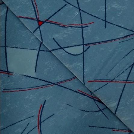 Nav. Geométrico Azul Claro/Vermelho