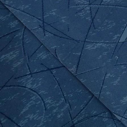Navalhado Geométrico Azul Escuro